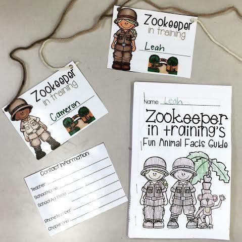 Zoo Field Trip name tags and Zookeeper in Training Fun Animal ...