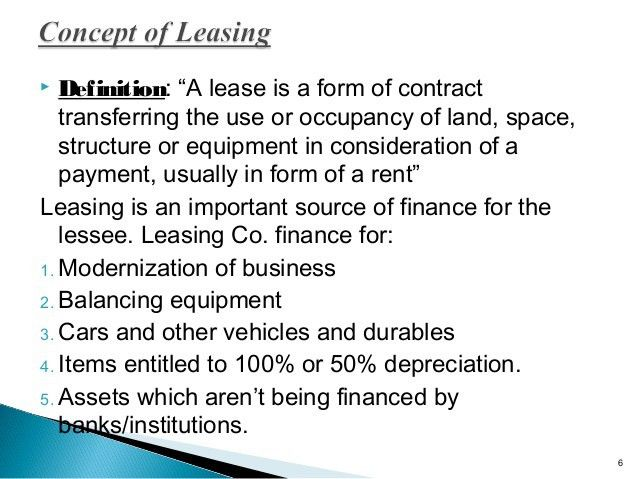 Hire purchase & leasing