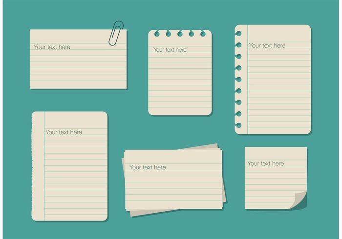 Ruled Paper Text Box Templates - Download Free Vector Art, Stock ...