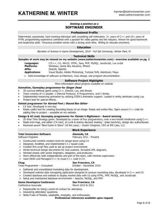 The Brilliant Software Developer Resume Examples | Resume Format Web
