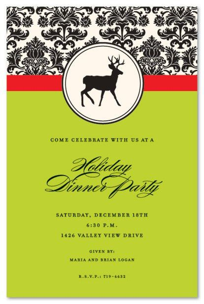 Holiday Invitations, Christmas Invitations; Exclusive Design ...