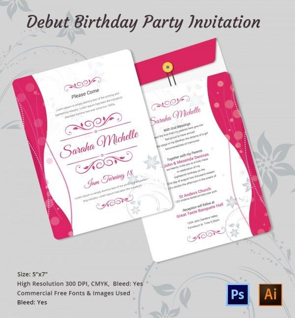 Kids Birthday Party Invitation Letter Sample | futureclim.info