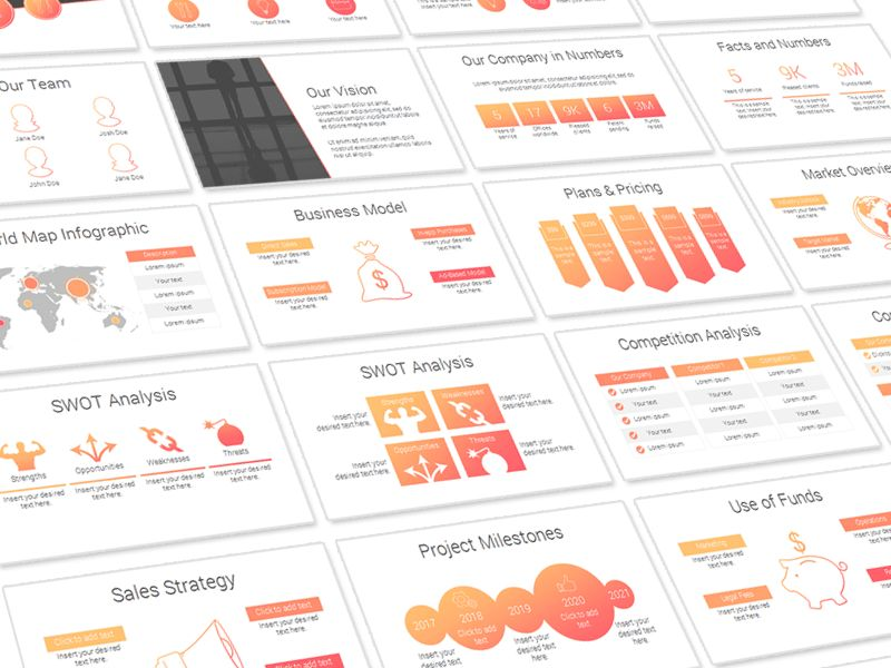 Pitch Deck Template by Eric Vadeboncoeur - Dribbble