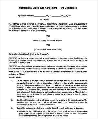 Sample Business Agreement between Two Parties - 6+ Examples in ...