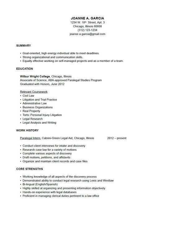Litigation #Paralegal Resume Sample (resumecompanion.com) | court ...
