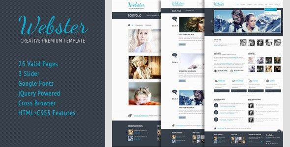 Webster Premium HTML Template by ZERGE | ThemeForest