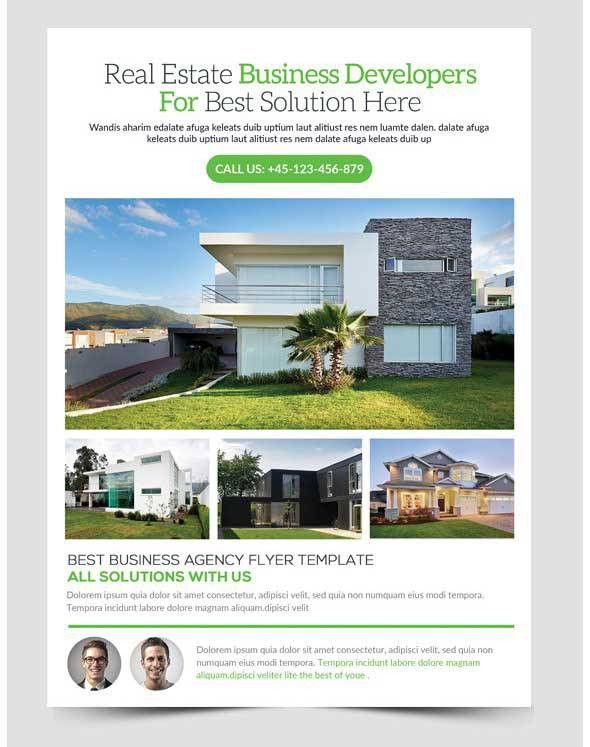 30+ Amazing Free Real Estate Flyer Templates PSD Download