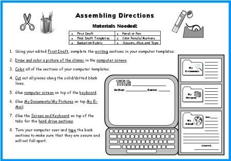 Computer Book Report Project: templates, worksheets, grading ...