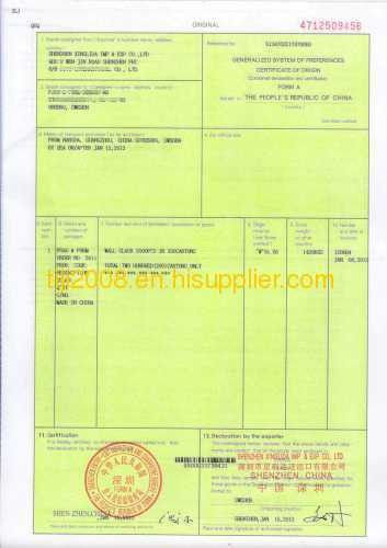 FORM A CERTIFICATE OF ORIGIN from China manufacturer - SHENZHEN ...