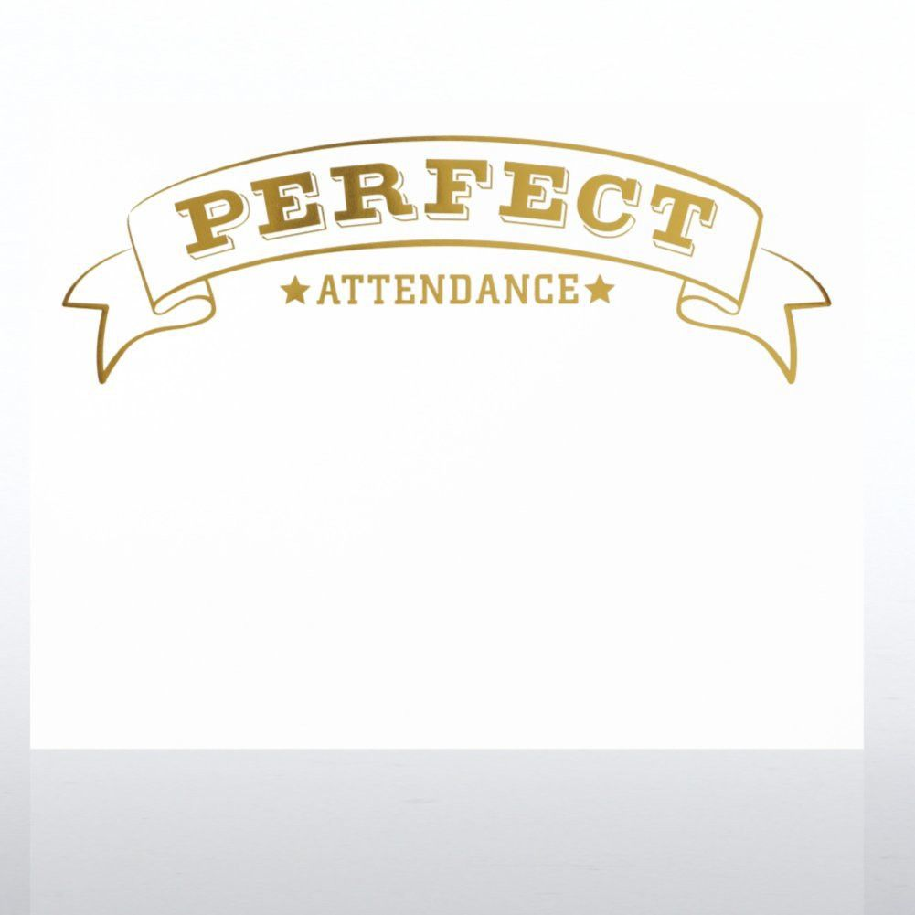 Foil-Stamped Certificate Paper - Perfect Attendance Award at ...