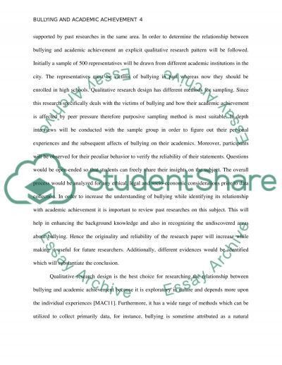 Bullying and Academic Achievement Research Paper