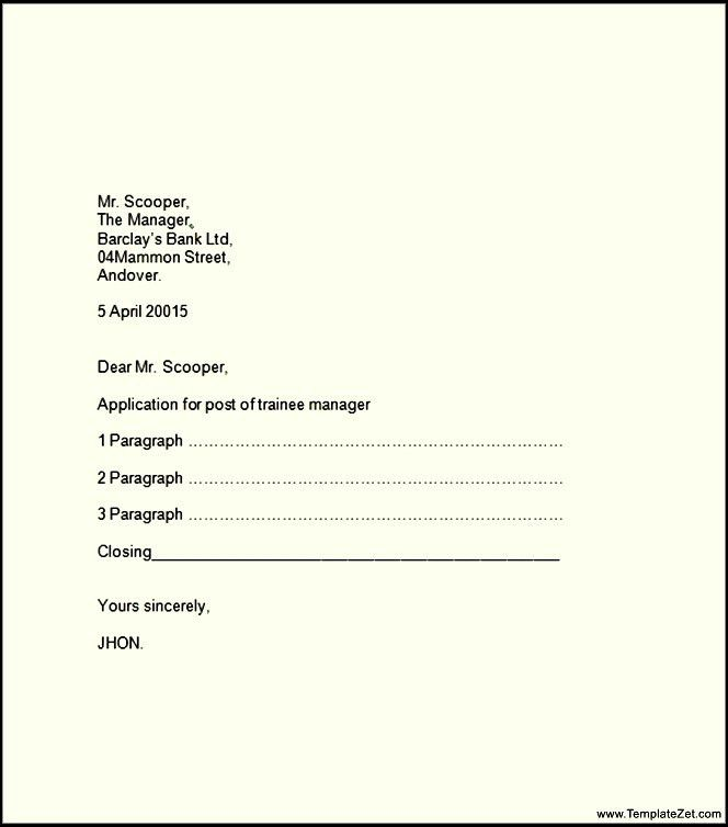 Formal Business Letter Template Word | TemplateZet