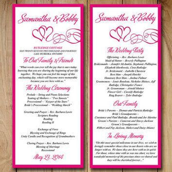 Best Wedding Ceremony Program Templates Products on Wanelo