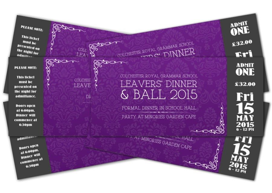 Event Tickets | Fred Whitten Design Portfolio