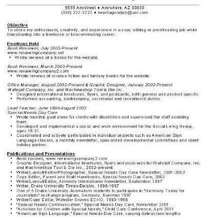 career change resume templates career transition or career change ...