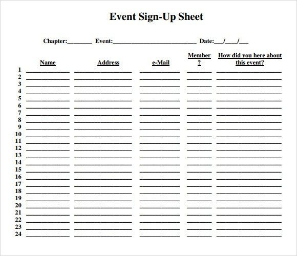 40 sign up sheet sign in sheet templates word excel college – Sign Up Sheet Template Word