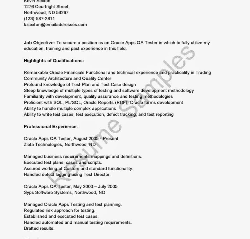 Automation Testing Resume Selenium. real world selenium resume ...