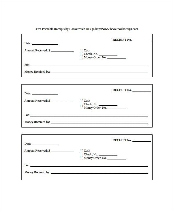 Sample Receipt Templates - 19+ Free Documents Download in PDF, Word