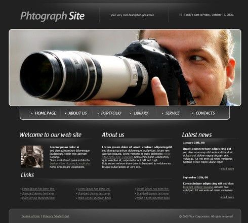 Findout HTML Template - 4316 - Art & Photography - Website ...