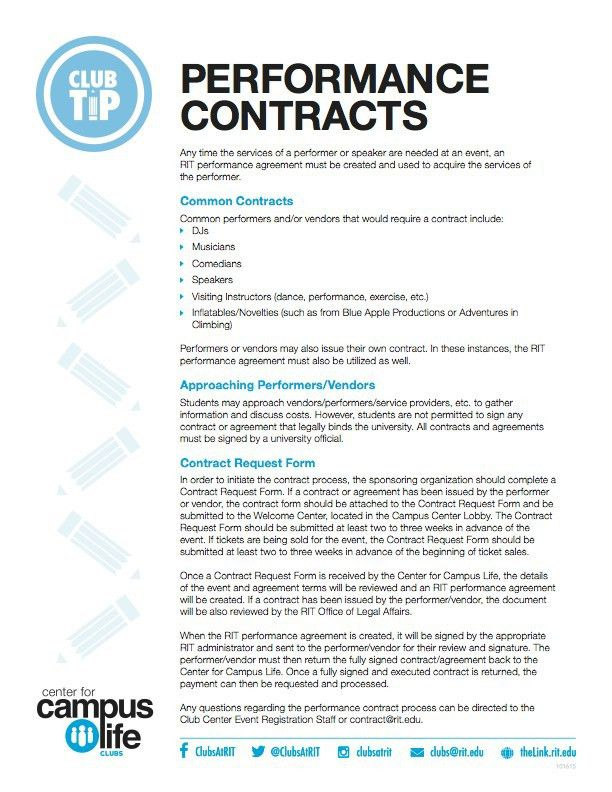 Performance Contracts | Center for Campus Life
