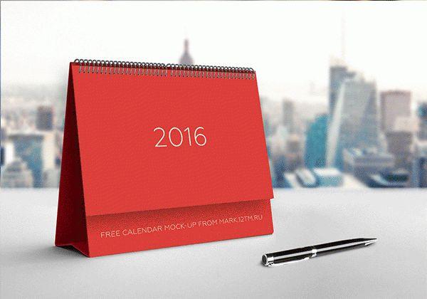 Free calendar mock-up on Behance