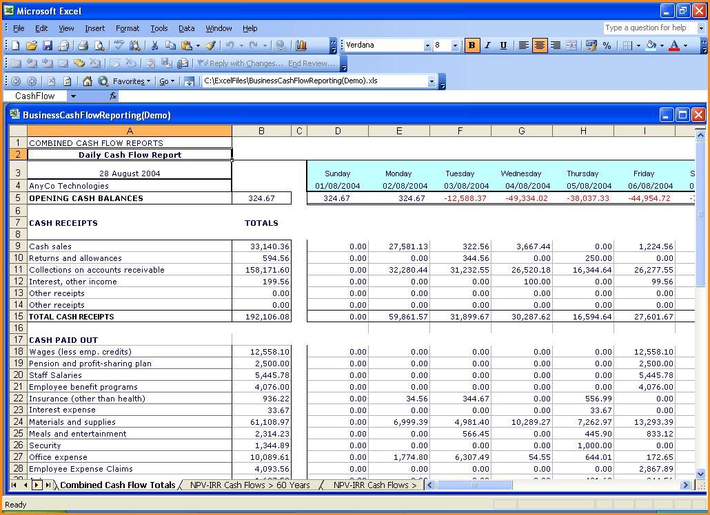 Excel Cash Flow Template.Cash Flow Template.jpg - Loan Application ...
