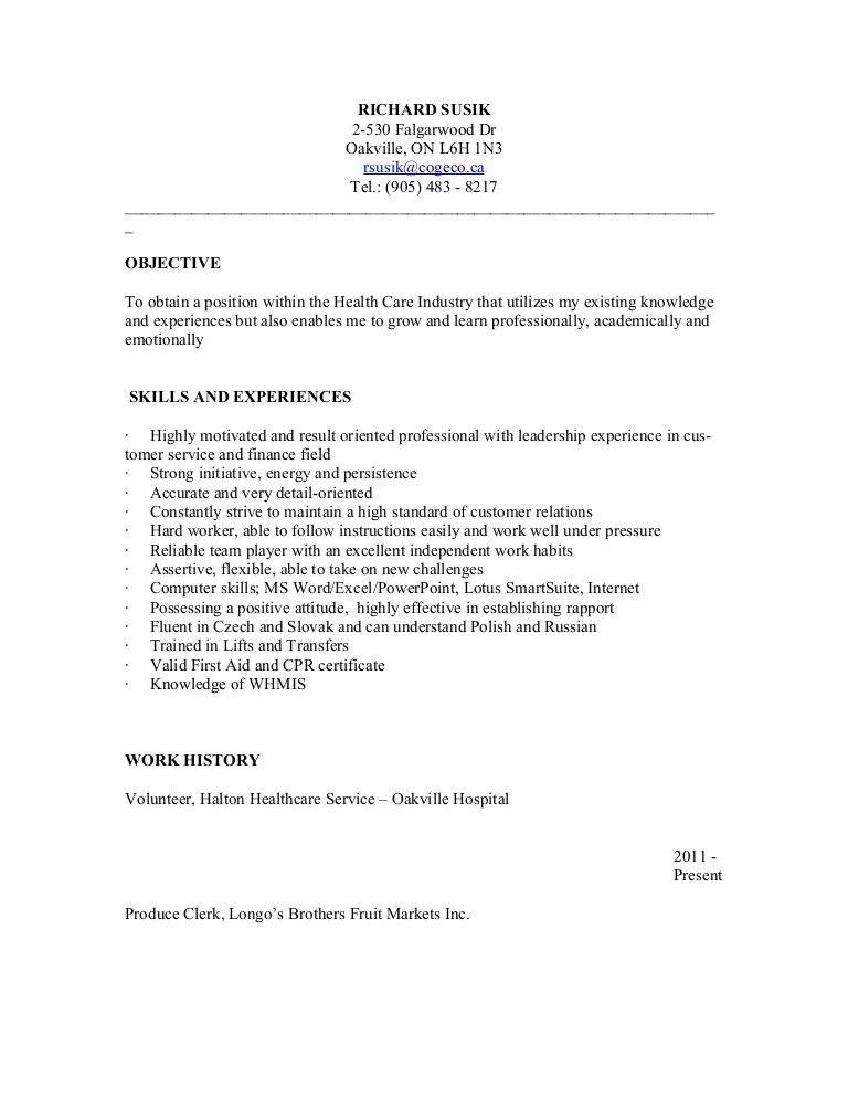 Resume PSW