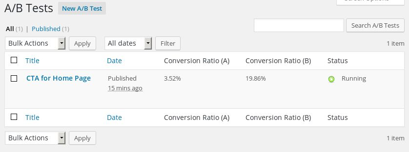 Easy conversion improvement in Wordpress - A/B Tester