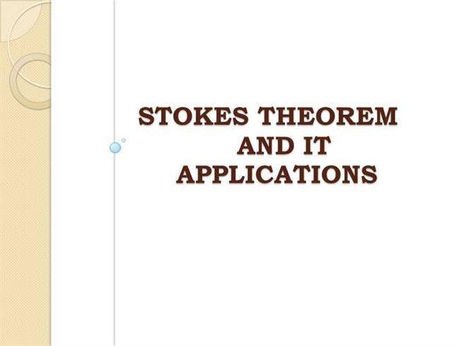 Stokes Theorem |authorSTREAM