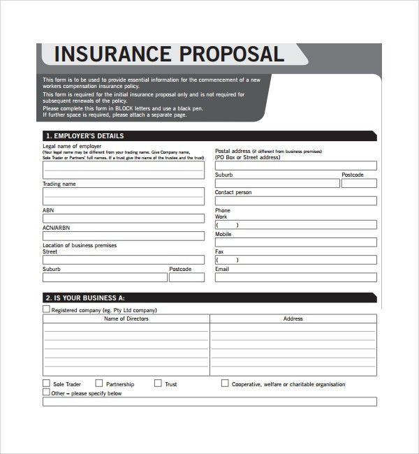 Sample Insurance Proposal Template - 7+ Free Documents in PDF, Word