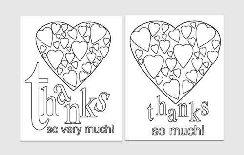 Easy Printables: Thank You Card Templates | Blissfully Domestic