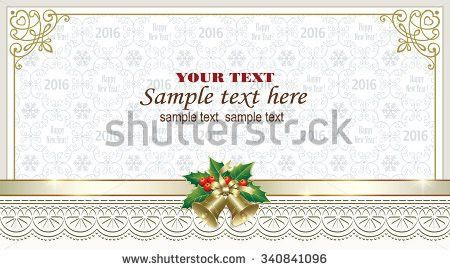 Christmas Card Ball Bells Frame Ornament Stock Vector 529921348 ...