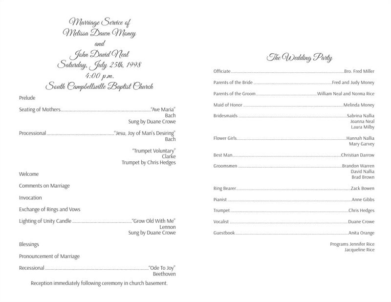 Wedding Program Templates - Wedding Programs Fast