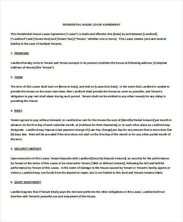 Month To Month Rental Agreement Template – 9+ Free Word, PDF ...