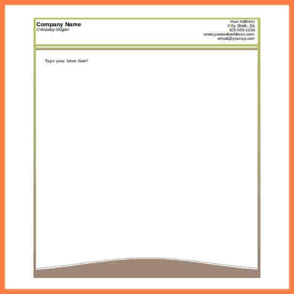 6+ letterhead templates for word   Company Letterhead