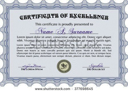 Sample Certificate Frame Certificate Template Vector Stock Vector ...