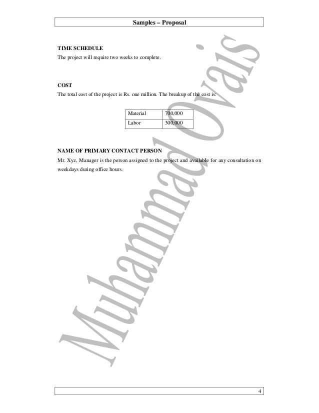 07 practical writing sample - building maintenance proposal