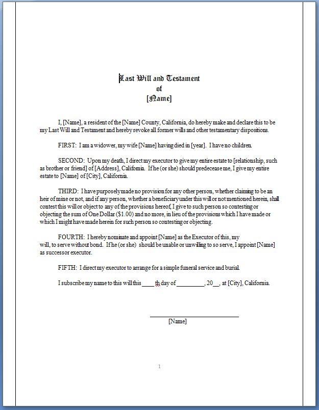 JurisDocuments, California Will Forms