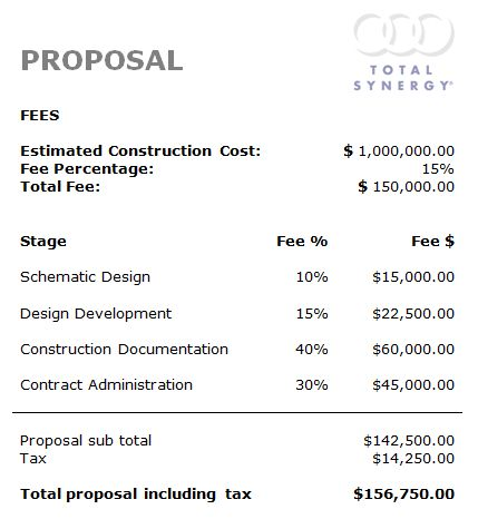 Creating a Proposal template