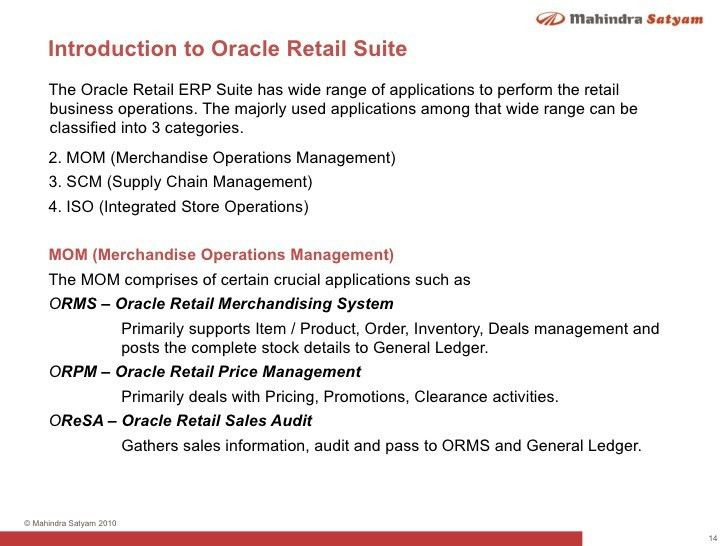 Oracle Retail