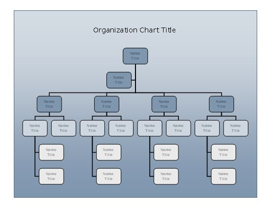 Company Organizational Chart (blue Gradient Design) Business ...