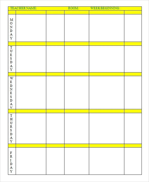 Sample Weekly Lesson Plan – 8+ Documents In Word, Excel, Pdf ...