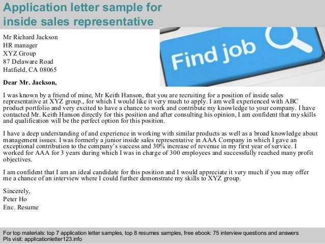inside sales cover letter cover letter for sales associate that is ...