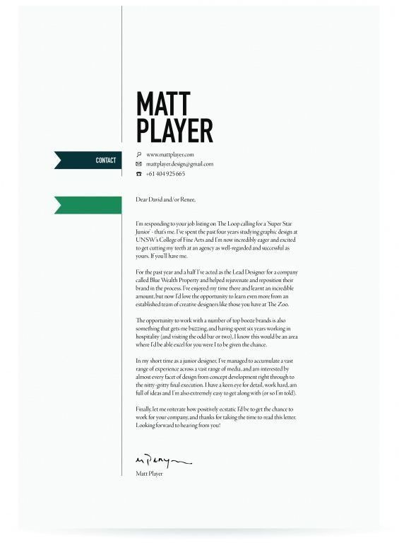 Impressive Unique Cover Letter 5 Examples - CV Resume Ideas