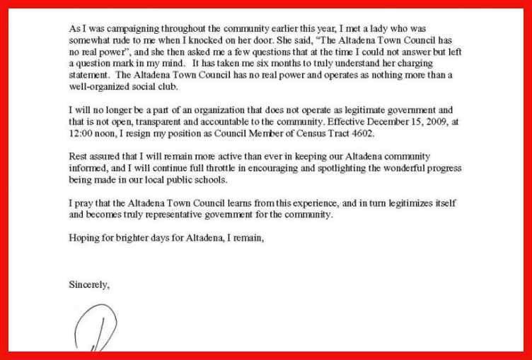 proper resignation letter | apa example