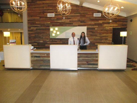 The new reception area with two of the excellent Front Desk Team ...