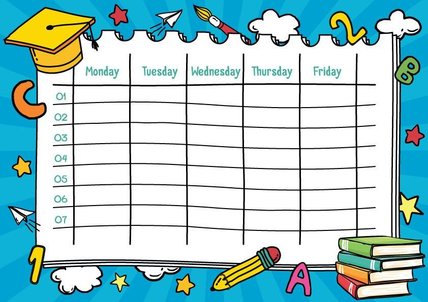Back To School: School Timetable Templates Part 2 - Active Kids TV