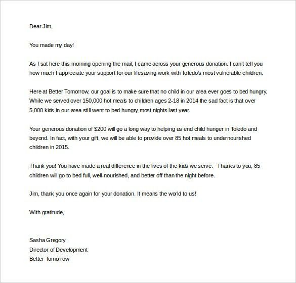 Fundraising Letter. Writing A Successful High-Donor Letter - Part ...