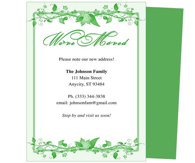 Moving Announcements and We've Moved Postcards Templates: Ivy Just ...