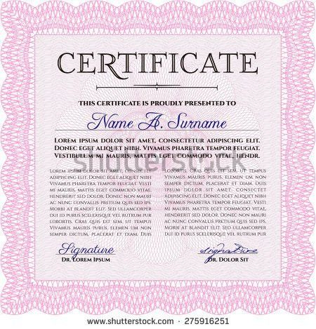 Red Vertical Certificate Template Very Customizable Stock Vector ...